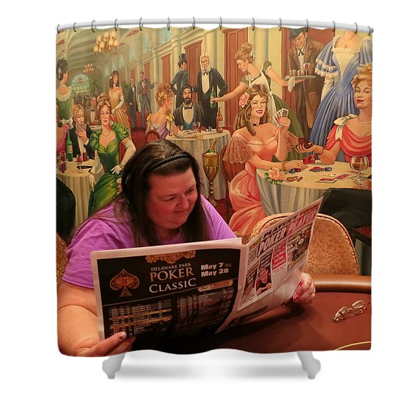 Pattie Poker Shower Curtain