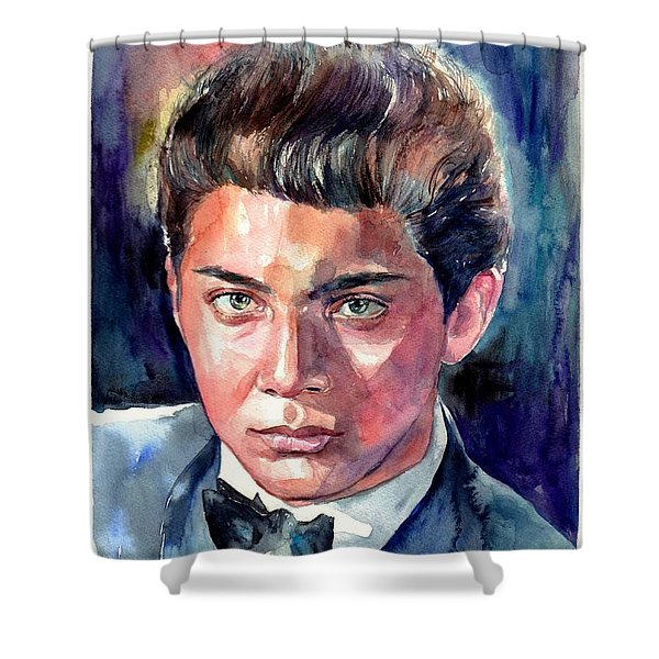Paul Anka Young Portrait Shower Curtain