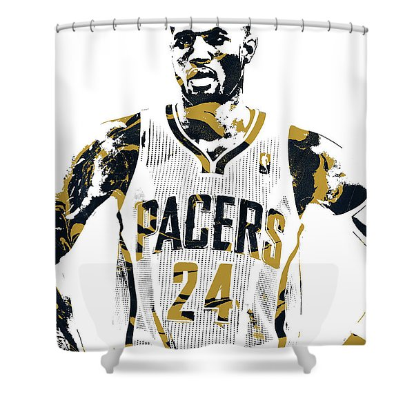 Paul George Indiana Pacers Pixel Art 1 Shower Curtain