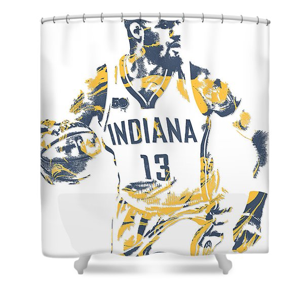 Paul George Indiana Pacers Pixel Art 10 Shower Curtain