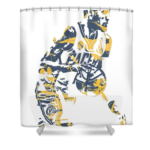 Paul George Indiana Pacers Pixel Art 11 Shower Curtain