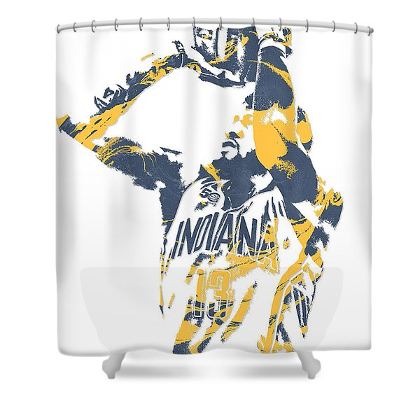 Paul George Indiana Pacers Pixel Art 12 Shower Curtain