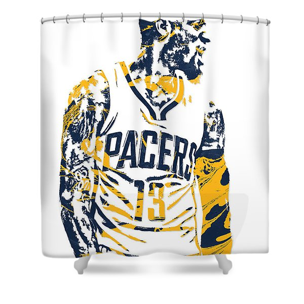 Paul George Indiana Pacers Pixel Art 4 Shower Curtain