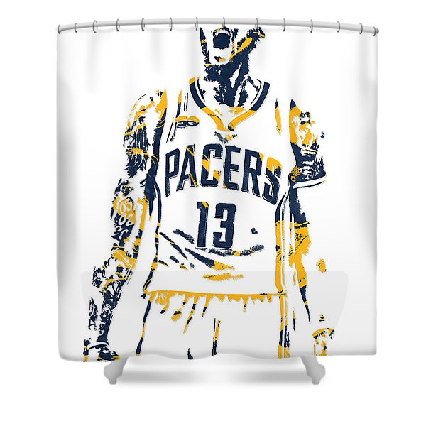 Paul George Indiana Pacers Pixel Art 6 Shower Curtain
