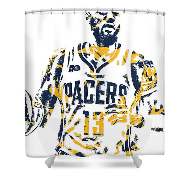 Paul George Indiana Pacers Pixel Art 7 Shower Curtain