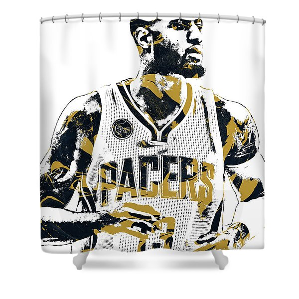 Paul George Indiana Pacers Pixel Art Shower Curtain
