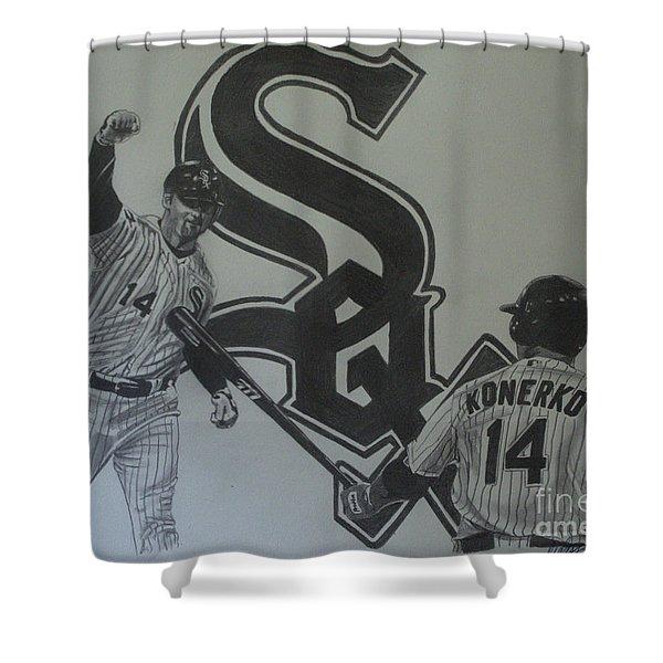 Paul Konerko Collage Shower Curtain