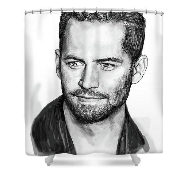 Paul Walker Pop Art Poster Shower Curtain