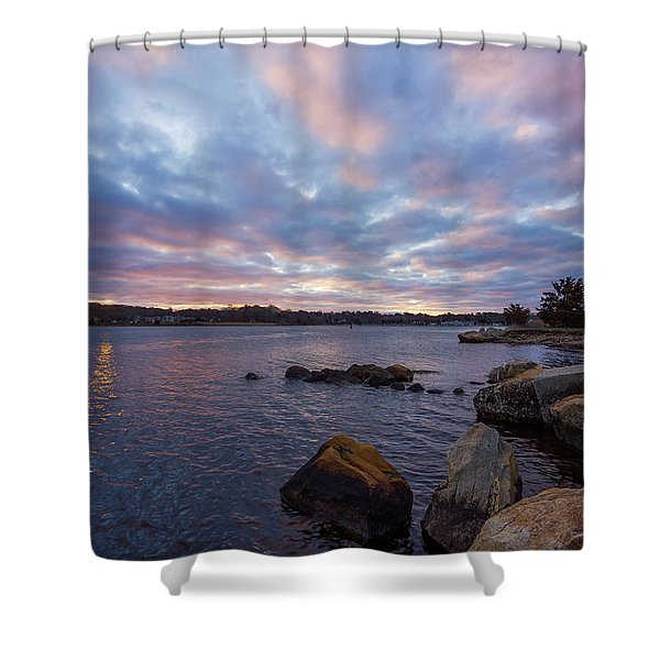 Pawcatuck River Sunrise Shower Curtain