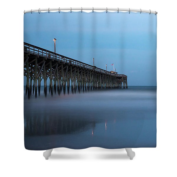 Pawleys Island Pier During The Blue Hour Shower Curtain