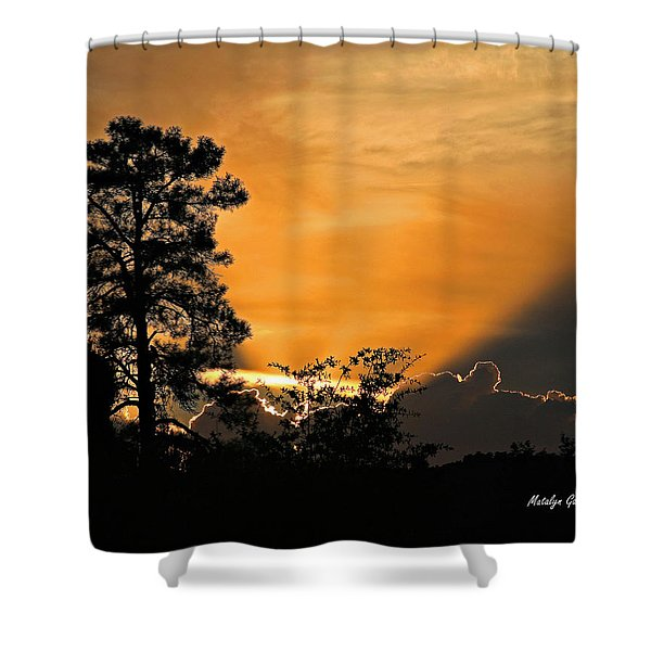 Payson Sunset Shower Curtain