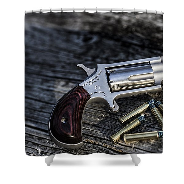 Pea Shooter Shower Curtain