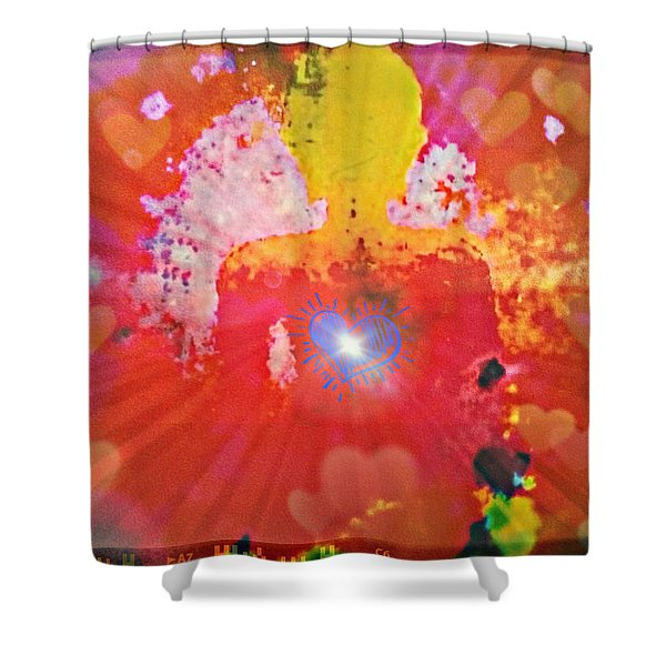 Peace And Love Meditation Shower Curtain