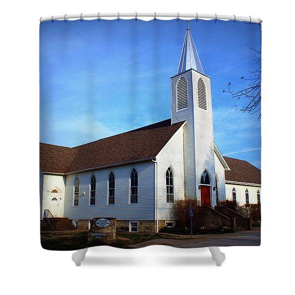 Peace Church Shower Curtain
