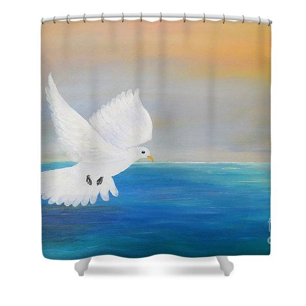 Peace Descending Shower Curtain