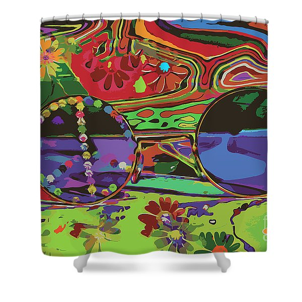 Shower Curtain featuring the digital art Peace Art by Eleni Mac Synodinos
