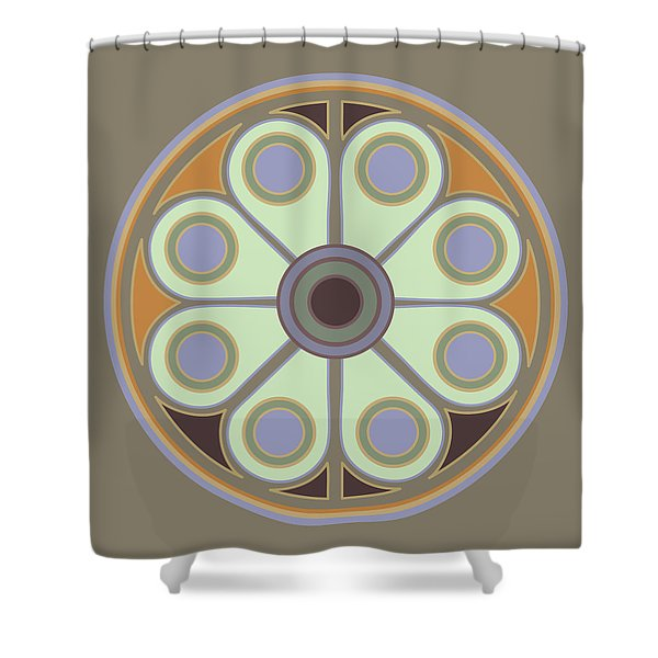 Peace Flower Circle Shower Curtain