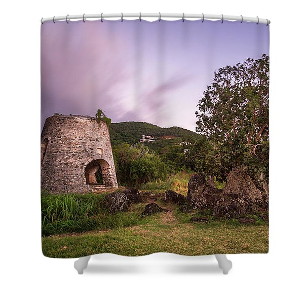 Peace Hill Ruins Shower Curtain