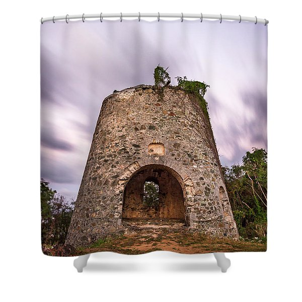 Peace Hill Sugar Mill Shower Curtain