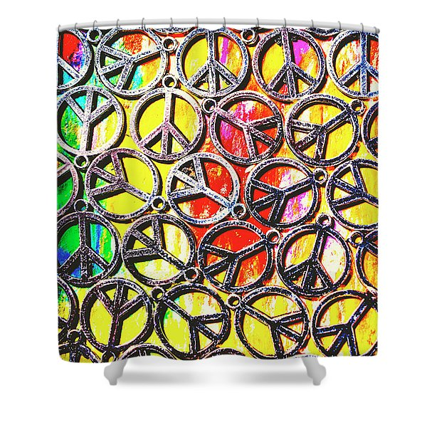 Peace In All Colours Shower Curtain