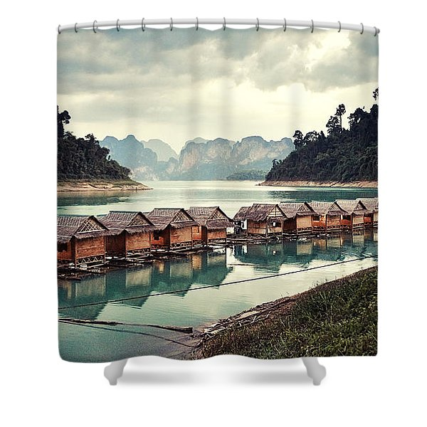Peace On The Lake Shower Curtain