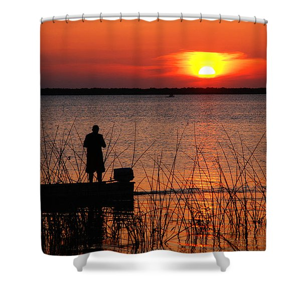 Peace Over The Water Shower Curtain