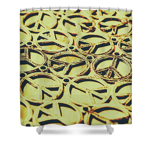Peace Sign Patterns Shower Curtain