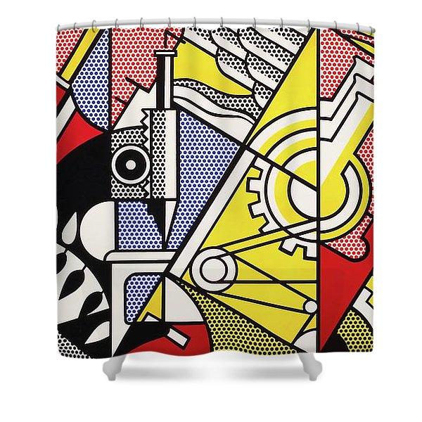 Peace Through Chemistry I - Roy Lichtenstein Shower Curtain