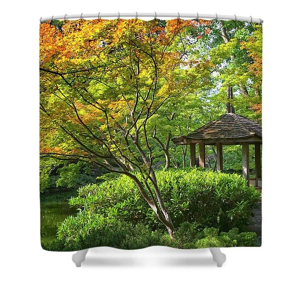 Peaceful Autumn Shower Curtain