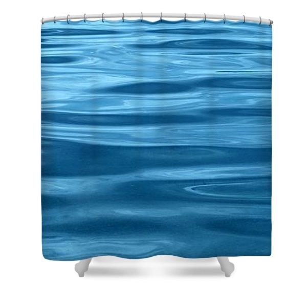 Peaceful Blue Shower Curtain