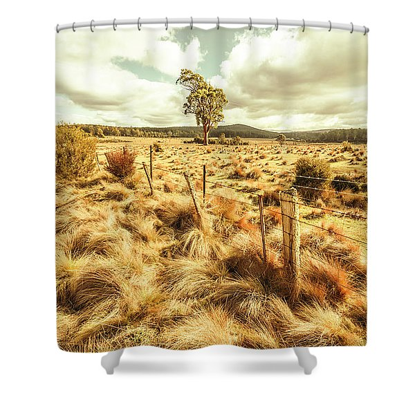 Peaceful Country Plains Shower Curtain