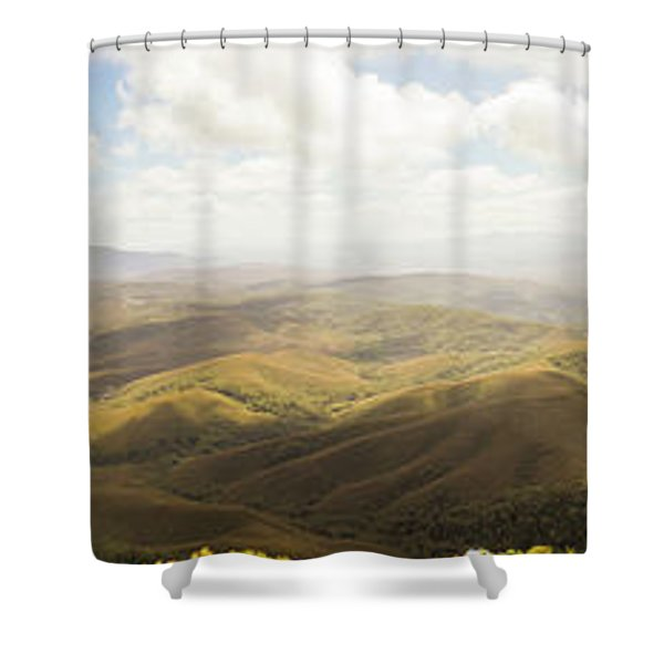 Peaceful Countryside Panorama Shower Curtain