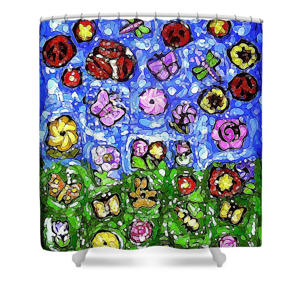 Peaceful Glowing Garden Shower Curtain