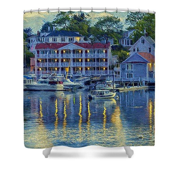 Peaceful Harbor Shower Curtain