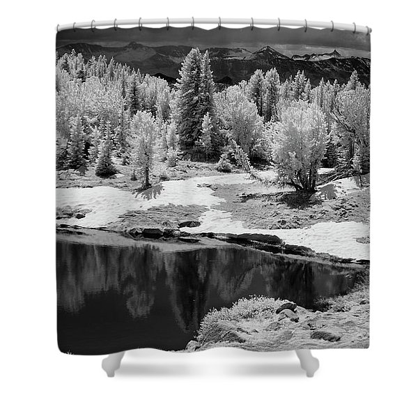 Peaceful Ir Shower Curtain