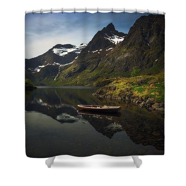 Peaceful Lofoten Shower Curtain