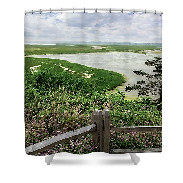 Peaceful Outlook Shower Curtain