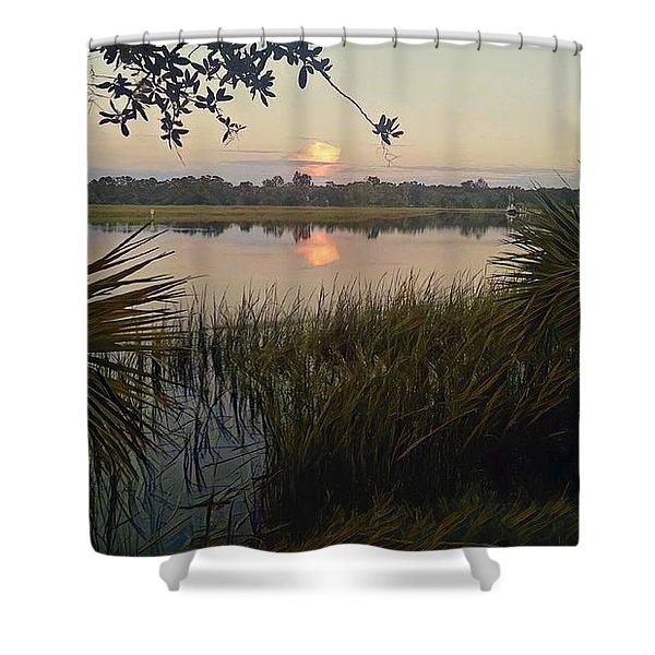 Peaceful Palmettos Shower Curtain