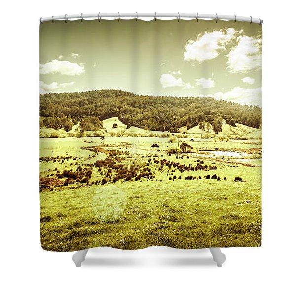Peaceful Panoramic Pasture Shower Curtain