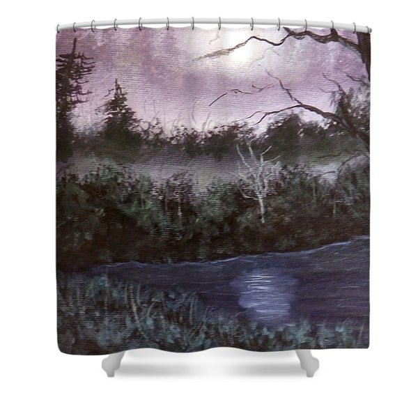 Peaceful Pond Shower Curtain