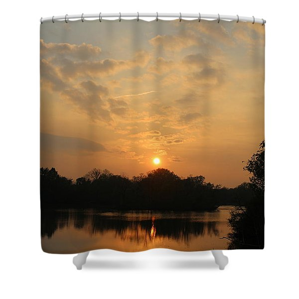 Peaceful Reflections Of The Day Shower Curtain