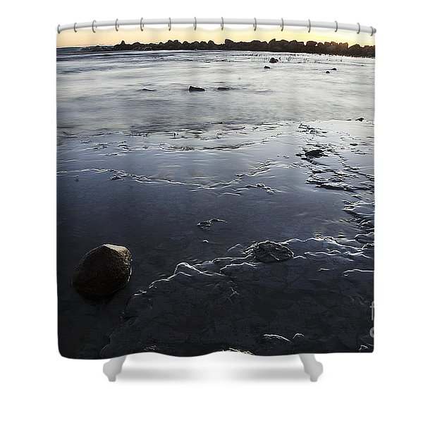 Peaceful Shoreline Shallows Shower Curtain