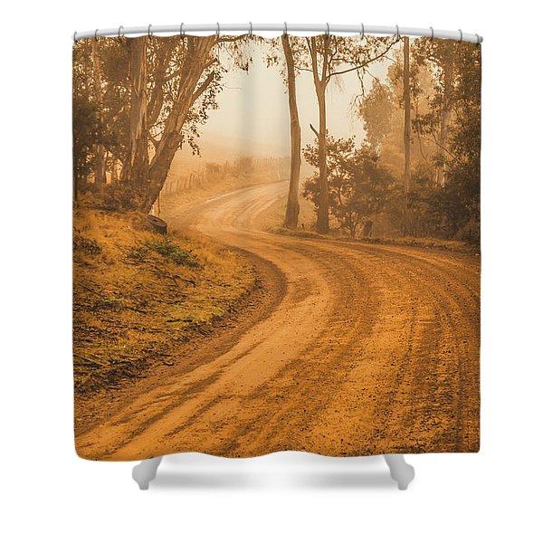 Peaceful Tasmania Country Road Shower Curtain