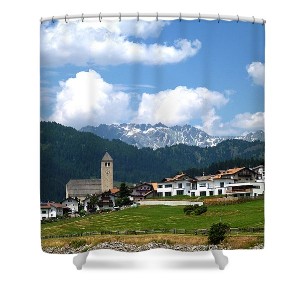 Peaceful Village Shower Curtain