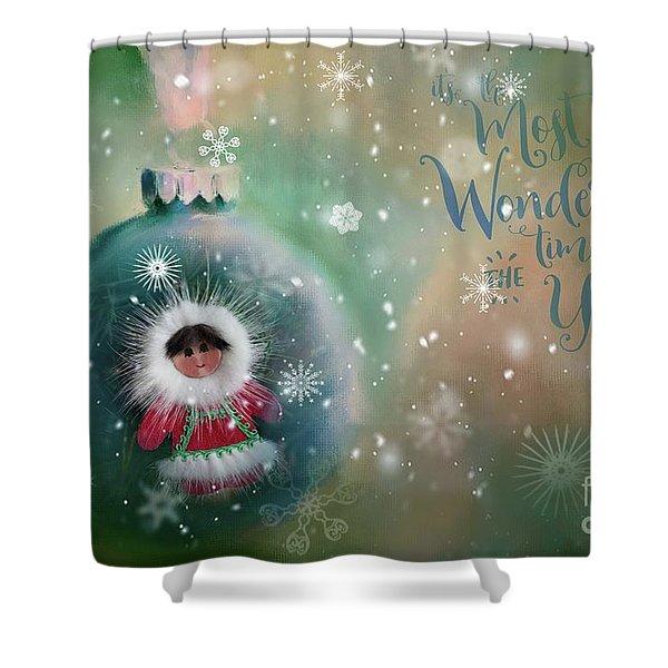 Peace,love,joy Shower Curtain