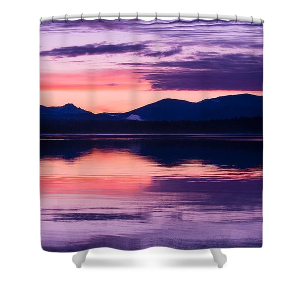 Peach And Lavender Shower Curtain