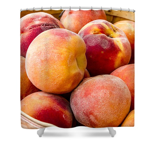 Peach Beauties Shower Curtain