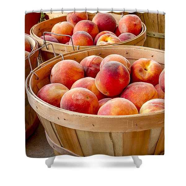 Peach Harvest Shower Curtain
