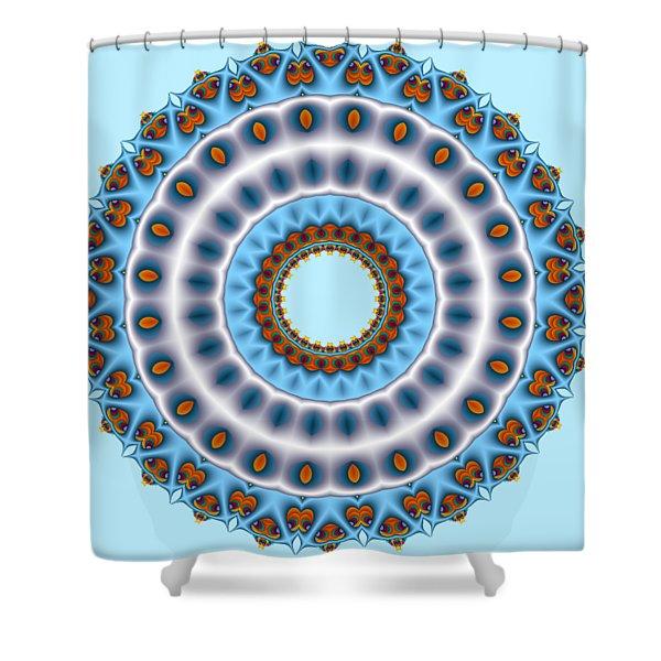 Peacock Fractal Mandala I Shower Curtain