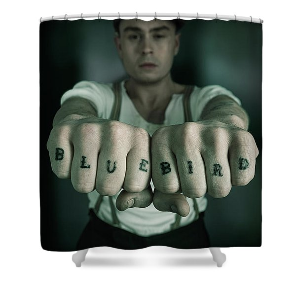 Peaky Blinder Tattoo Shower Curtain